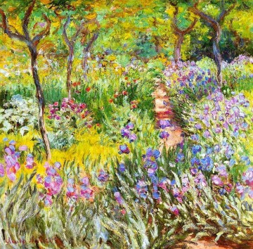 Claude Monet Painting - The Iris Garden at Giverny Claude Monet